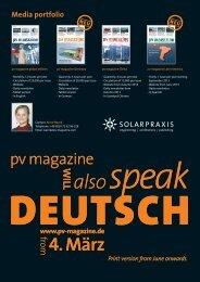 Media portfolio - PV Magazine
