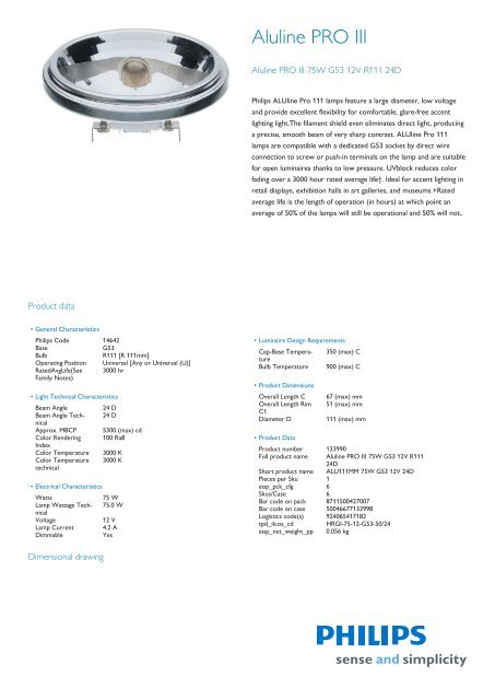 Product Leaflet G53 R111 Casa Delle Lampadine
