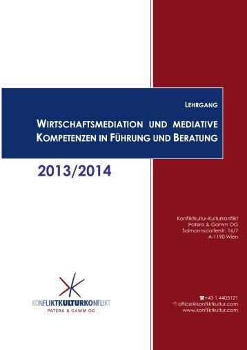 wirtschaftsmediation und mediative kompetenzen in ... - Konfliktkultur
