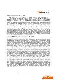 REKORDSTARTERFELD IN DER KTM X-BOW BATTLE: 22 ...