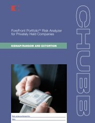 Kidnap/Ransom & Extortion - Chubb Group of Insurance Companies