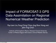 Impact of FORMOSAT-3 GPS Data Assimilation on Regional ...