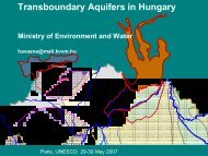 Transboundary Aquifers in Hungary, by Ministry of ... - Hydrology.nl