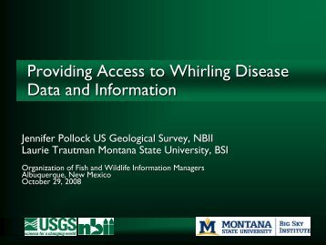 Providing Access to Whirling Disease Data and Information