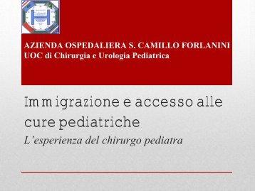 Immigrazione e accesso alle cure pediatriche - Azienda Ospedaliera ...