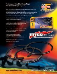 Nitro Black PISTON RINGS - Engine Pro
