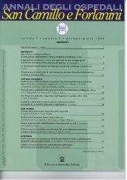 Copertina del primo numero pubblicato - Azienda Ospedaliera S ...