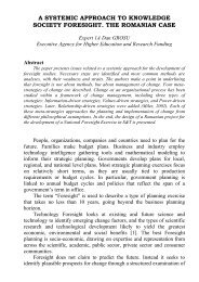 a systemic approach to knowledge society foresight - Moya K. Mason