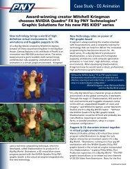 Mitchell Kriegman chooses NVIDIA Quadro® FX by PNY Graphic ...