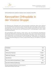 Das Leistungsspektrum der Orthopädie in der Vinzenz Gruppe zum ...