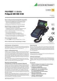 PROFITEST 0100S-II+ Prüfgerät DIN VDE 0100 - Gossen-Metrawatt