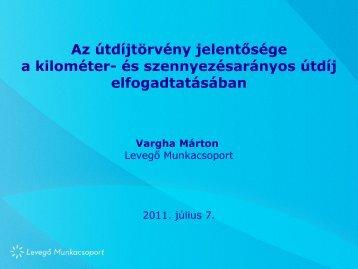 Vargha Márton Levegő Munkacsoport 2011. április 5.