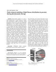 Finite-element modeling of light fluence distribution in ... - Comsol