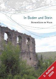 In Boden und Stein - Denkmäler im Wald - Bayerische ...