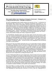 Pädagogik muss vor Wirtschaftlichkeit stehen - Angelika Weikert, MdL