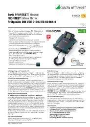 MPRO MXTRA Prüfgeräte DIN VDE 0100/IEC ... - Gossen-Metrawatt