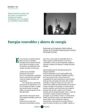 Energías renovables y ahorro de energía - Instituto de ...