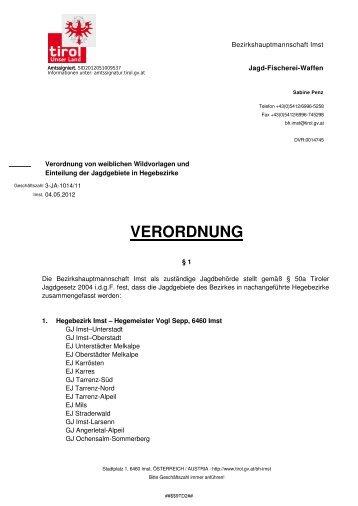 VERORDNUNG - Stams