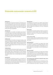 Finansielle instrumenter anvendt af ATP
