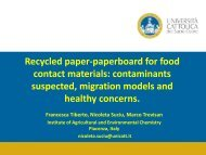 Recycled paper-paperboard for food contact materials ...