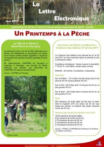 Newsletter août 2011 : News pêche - Fédération de pêche de la ...