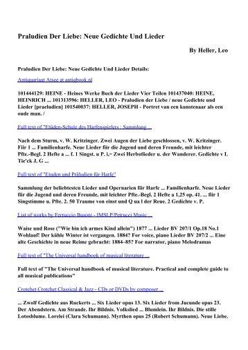Download Praludien Der Liebe Neue Gedichte Und Lieder Pdf