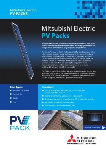 Mitsubishi Electric PV Packs - Impact Renewables