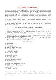 nota storica introduttiva - Diocesi Altamura - Gravina - Acquaviva ...