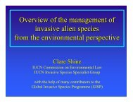 Overview of the management of invasive alien species from the ...