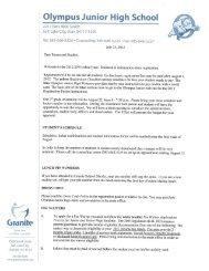 Registration Packet Part 1 - Granite School District