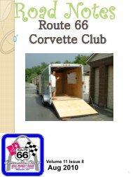 Road Notes August 2010 - website.pdf - Route 66 Corvette Club