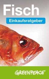 Mini-Fischratgeber 2012 - Greenpeace