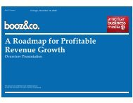 A Roadmap for Profitable Revenue Growth - American Business ...