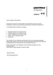 Vortragsmappe URWALD - Greenpeace