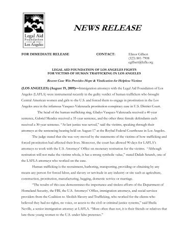 Final Human Trafficking Press Release - Legal Aid Foundation Los ...