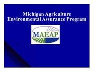 Michigan Agriculture Environmental Assurance Program - nasca