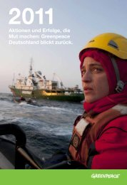 Liebe Förderinnen und Förderer, liebe Leserinnen ... - Greenpeace