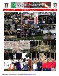 2010 Festival Edition Newsletter - Mercer County Italian American ...
