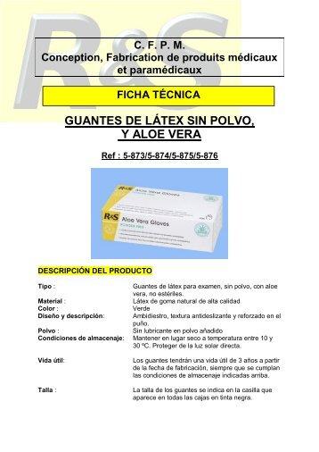 FT Guantes Aleo Vera R&S ESP - DVD