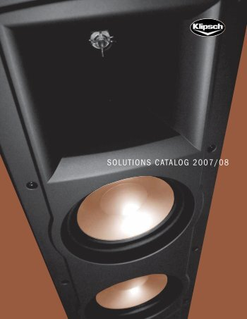 SOLUTIONS CATALOG 2007/08