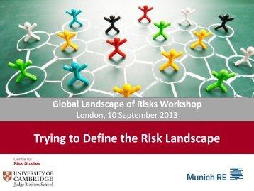 Trying to Define the Risk Landscape - Centre for Risk Studies