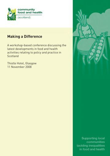 Making a Difference - Community Food and Health