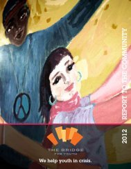 The Bridge for Youth Annual Report 2012