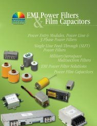 EMI Power Filters Film Capacitors - Spectrum Control