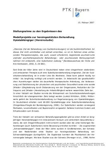 Heroinstudie - PTK Bayern