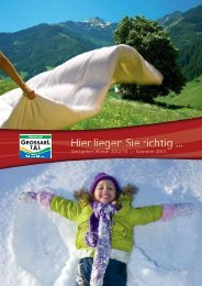 Preise »14. int. Lady-Skiwoche« 16.03.-23.03.2013 - Grossarltal