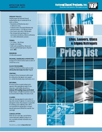 NGP 2011 Lite Kit Price Book - Access Hardware Supply