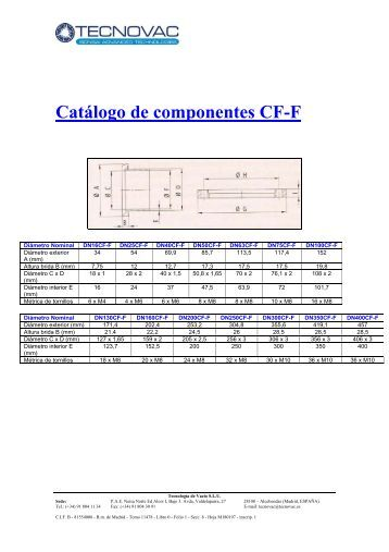 Catálogo de componentes CF-F - Bonsai Advanced Technologies