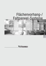 Flächenvorhang-/ Faltpaneel-Systeme