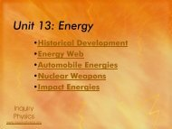 Unit 13: Energy